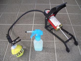 硬式テニスボール圧力再生器針組立型セット